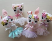 Floral Kitty and Bunny pdf Pattern
