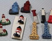 Lighthouse Novelty Buttons 11 Plastic Novelty Buttons