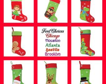 Personalized Stocking Stephen Joseph Christmas Stocking FREE Embroidered Name