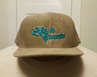 """String Cheese Incident """"Life is Gouda"""" corduroy snapback hat"""