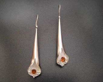 Silver & Citrine Spiculum Earrings