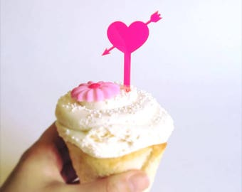 Heart cupcake topper 4pack