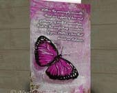 card after Mother has passed for Mothers day or deceased mothers birthday wedding day without mom remembrance after mom passed butterfly