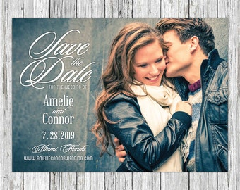 Classic Personalized Printable Save the Date Card, Save the Date Printable, Save the Date Postcard, Save the Date Magnet Photo Save the Date