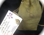 Strength Power Energy Pouch with 7 Natural Crystals or Stones FREE SHIPPING