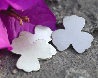 Nickel Silver Clover Flower Blank 25mm 20g Cutout for Blanks Enameling Stamping Texturing