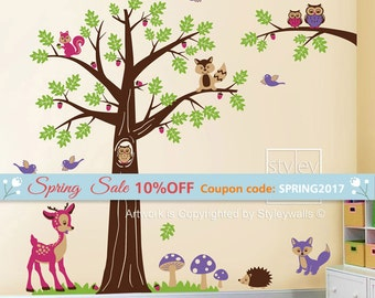 Castle Wall Decal Fairy Princess Castle Personalized Wall - Bambi love tree wall decals