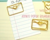 LOVE LETTER Planner Clip - Use with Erin Condren, Carpe Diem, Filofax, Happy Planner, Travelers Notebook, Kate Spade, Gold Metal Paper Clip