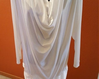 Vintage White Cowl Neck Top/Dress