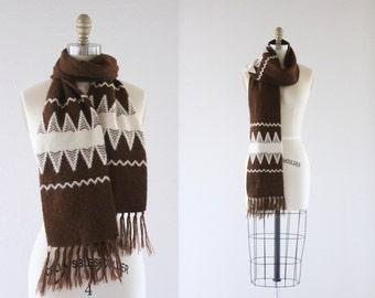 1970's southwest knit scarf