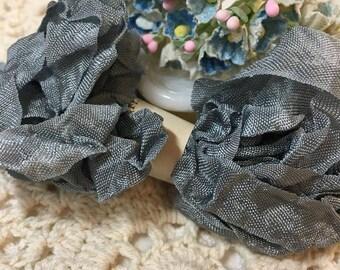 Shabby Stella Gray Crinkled Seam Binding Trim