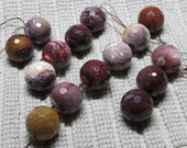 Mookaite Beads 30mm Faceted Mookaite Multi Colored Round Bolders - 12 pieces