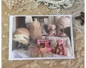 Vintage sewing postcard  - olive grove primitives