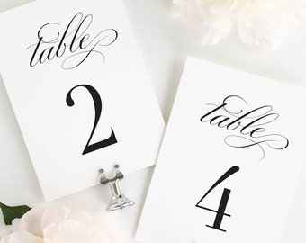 """Haley Design Table Numbers - 5x7"""""""