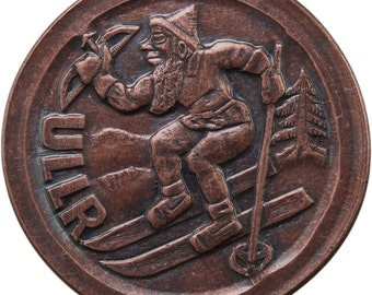 ULLR Token - Skiing and Archery Good Luck Coin