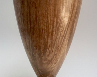 Big leaf maple burl vase