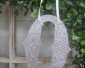 Custom Monogram Christmas Glitter Letter Ornament - GOTHIC font