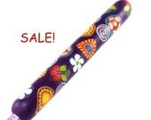 SALE! Susan Bates, G 6/ 4.00mm, Colorful Polymer Clay Covered Crochet Hook, Colorful Paisley