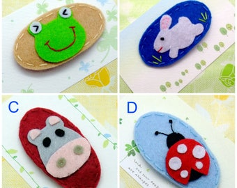 Handmade felt snap hair clip (FC- Group 6)
