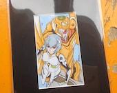 Rei evangelion drawing Boo rudetoons