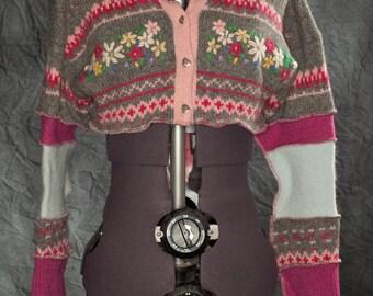 Katwise Inspired Half-Cardigan Hoodie. Size Sm.