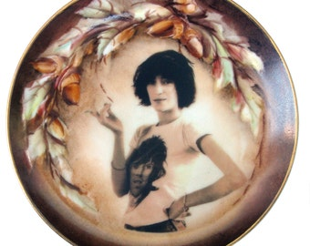 """Patti Smith Altered Vintage Plate  6.5"""""""