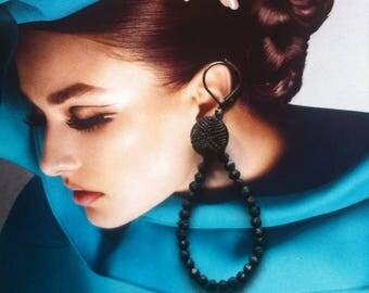 Czech glass earrings with glass beads