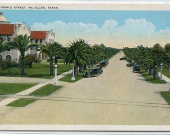 Residence Street McAllen Texas 1920s postcard