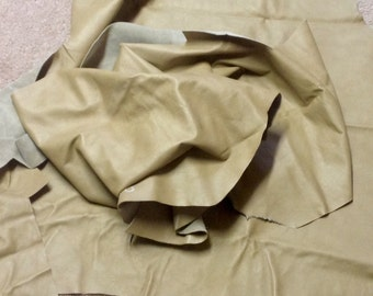 DF850.  Tan Leather Cowhide Remnants