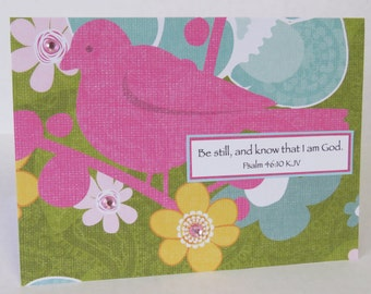 Be Still And Know That I Am God Nature Themed Christian Encouragement Card With Scripture