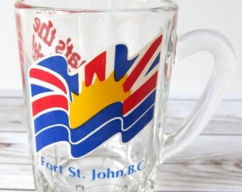 VINTAGE - Fort St. John Shot Glass - British Columbia