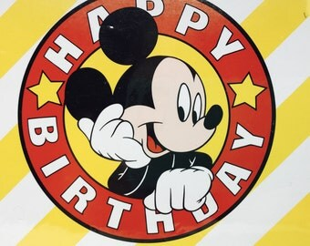 Mickey Mouse Happy Birthday Party Invitations by Gibson, Sealed set of 8 with envelopes