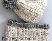 KNITTING PATTERN- Beginner Bulky Hat and Cowl Set (child- adult sizes) Hat and Cowl PDF