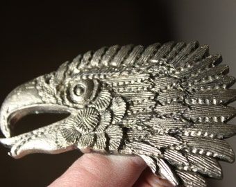 Screaming Eagle Vintage Belt Buckle # 1042 from 1980s Made in USA Detailed feathers and Silver Metal American Spirit Worn with Pride