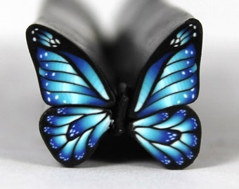 Raw Polymer Clay Butterfly Cane