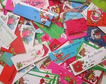 190 vintage Christmas gift tags