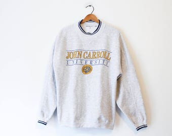 Vintage Gray John Carroll University Sweatshirt