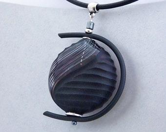 Venice souvenir. Murano Glass Pendant. Modern design.