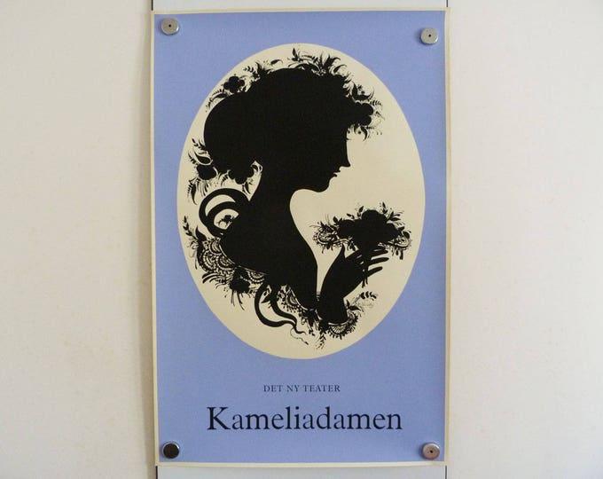Bjorn Wiinblad print poster Silhouette Screen print 1959
