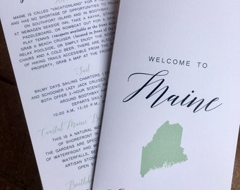 Wedding Guest Welcome / Information / Itinerary Booklet - Destination Weddings - Custom Colors Available