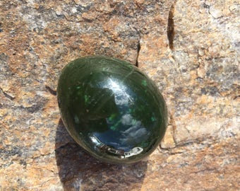 FLAWLESS Very Rare Gem quality Genuine Solid Chrome Nephrite Jade Egg Crystal Medium Undrilled