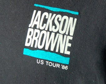 1986 Jackson Browne US Tour Tee, Screen Stars, Large