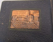 Vintage Copper and Fabric Bound Photo Album Jerusalem Made in Israel