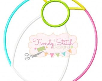 Beach Ball Applique Machine Embroidery Desgn INSTANT DOWNLOAD