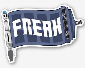 """Dr. Who Freak Flag 4"""" vinyl sticker"""