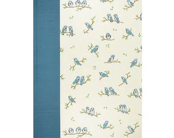 Baby Journal Keepsake Book Blue Birds