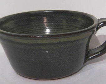 Traditions Pottery Handmade soup, cereal, chili,  bowl with handle Oven, Microwave, dishwasher 14 ounce