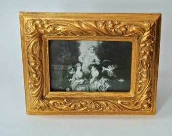 Heavy-Ornate-Hollywood Regency/Renaissance Style Wooden Gilded Picture Frame