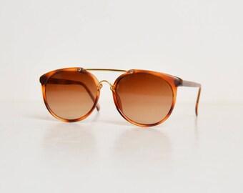 Vintage 90s Brown Tortoise GRUNGE 1990s Sunglasses