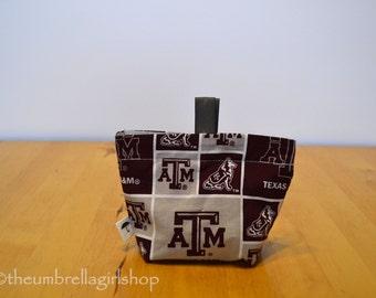 READY TO SHIP One Texas A & M Reusable Medium Snack Bag